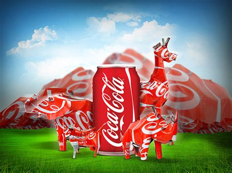 coca cola canners  sa  template  behance