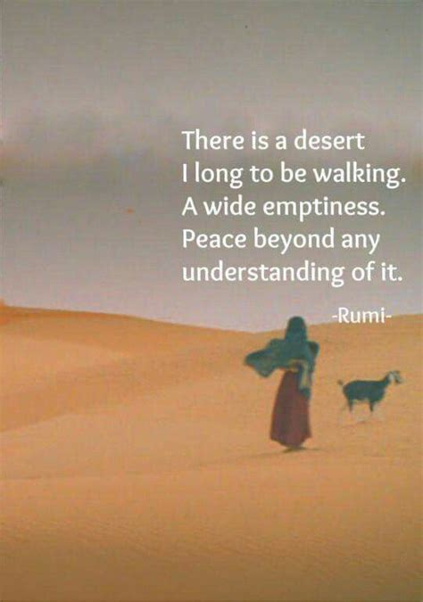 desert  long   walking  wide emptiness