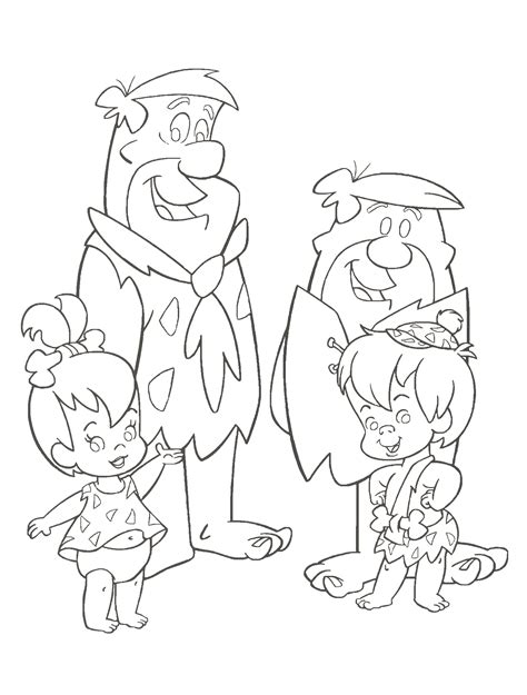 Coloring Pages To Print by Flintstones Coloring Pages And Print For Free