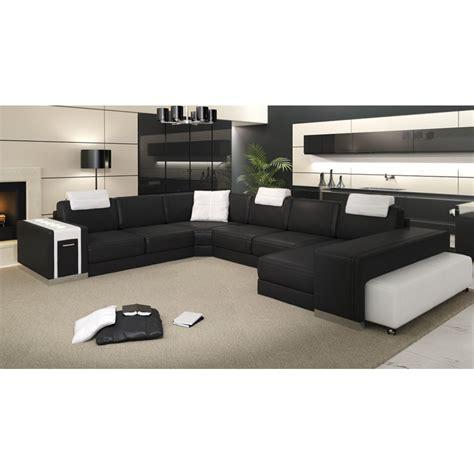 canapé avec 2 angles canapé d 39 angle panoramique en cuir sao paulo pouf pop