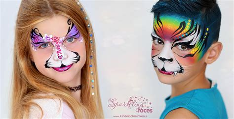 kinderschminken vorlagen sparkling faces kinderschminken farbenverkauf kurse