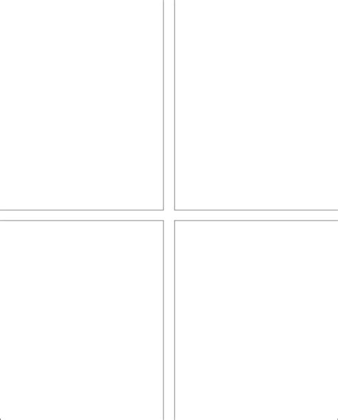 Four Panel Comic Template by Classic Comic Templates Blank Comic 4