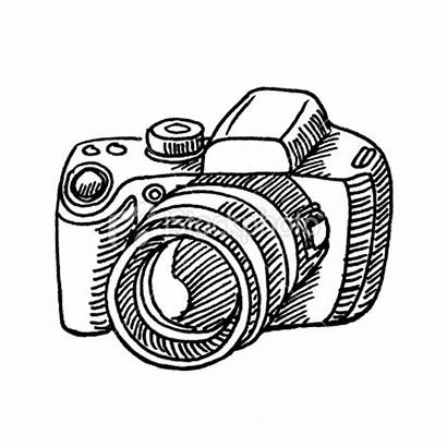 Camera Sketch Drawing Clipart Basic Cliparts Cam