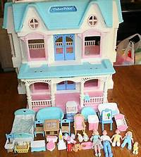 fisher price dream dollhouse VINTAGE RETIRED FISHER PRICE TOY~DREAM DOLLHOUSE~LOVING ...