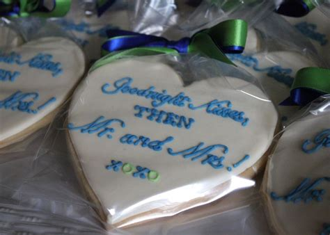 heart shaped cookies   rehearsal dinner