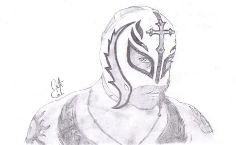 Rey Mysterio Mask Coloring Pages Wwwpixsharkcom