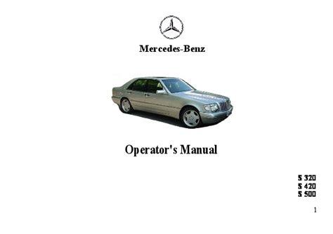 auto repair manual free download 1995 mercedes benz 1995 mercedes benz s320 s420 s500 w140 owners manual