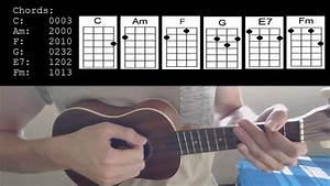 billie eilish favor easy ukulele tutorial with