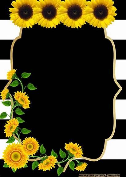 Invitation Birthday Templates Sunflower Printable Invitations Flower