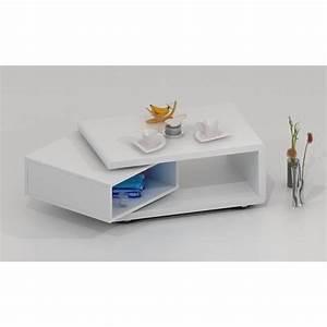 Table Basse Blanche Design : table basse design luk pivotante laqu e blanche achat ~ Nature-et-papiers.com Idées de Décoration