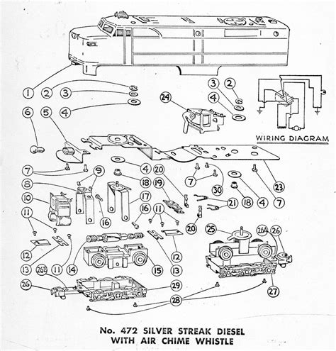 american flyer locomotive 472 parts list diagram traindr