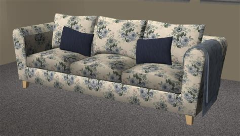 mod the sims blue floral seating set