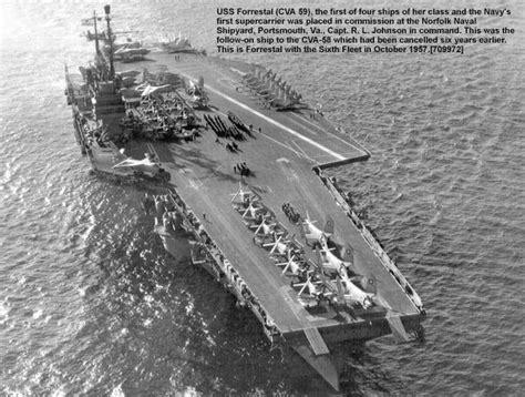 cv  forrestal class navy ships