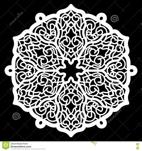 Lace Round Paper Doily, Lacy Snowflake, Greeting Element