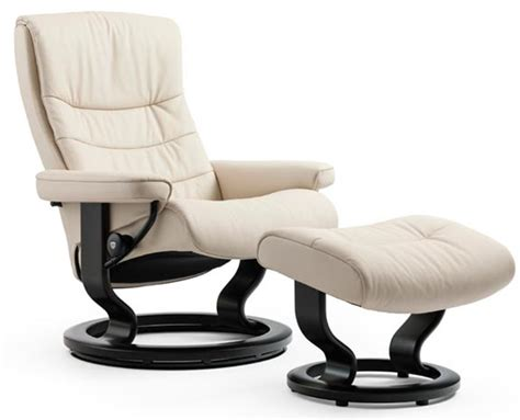 stressless nordic classic wood base recliner chair and