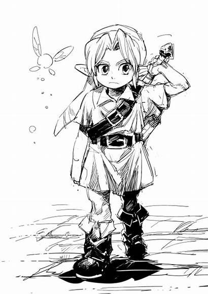 Zelda Legend Link Young Mask Majora Coloring