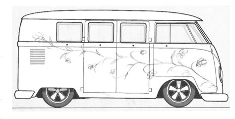volkswagen old van drawing pauls splitscreen van project custom paint design