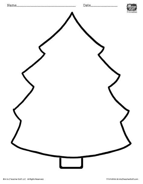 christmas tree printable page a to z teacher stuff