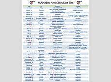 July 2018 Calendar With Holidays Malaysia – Printable