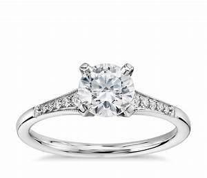 3 4 carat preset graduated milgrain diamond engagement With 4 carat wedding rings