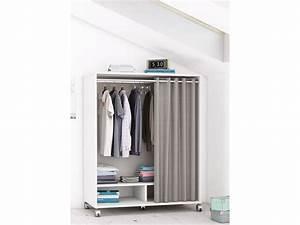 Dressing 120 Cm : dressing sous comble mana 100 x 55 x 120 cm blanc perle 93648 ~ Teatrodelosmanantiales.com Idées de Décoration
