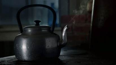 Kettle Pot Tea Gifs Morning Steam Boiling