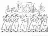 Coloring Funeral Ancient Printable Procession Egyptian Painting Egypt Tomb Sheet Scene Depicts Adapted Detailed Adult sketch template