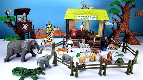 jungle wild animal care playset  kids learn animals