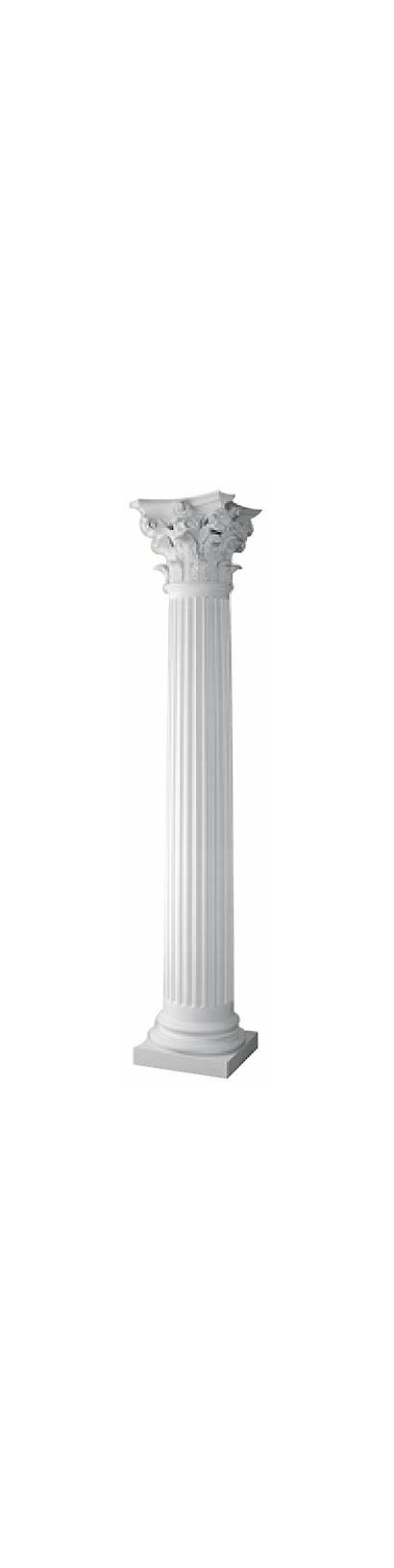 Columns Stone Round Fluted Tapered Column Roman