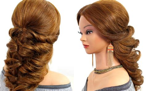 easy wedding prom hairstyle  long hair hairstyles