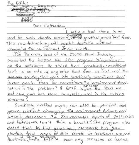 sample letter  editor mlareferencingxfccom