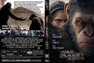 War For The Planet Of The Apes dvd cover & label (2017) R1 ...