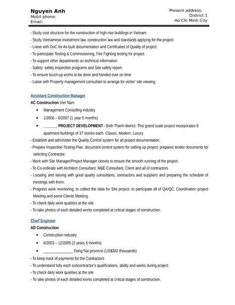 resume for construction laborer resume templates for construction workers