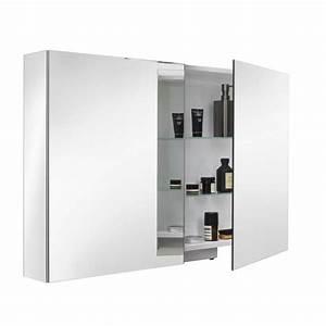 Armoire Porte Miroir : armoire de toilette 2 portes miroir armoire toilette ~ Teatrodelosmanantiales.com Idées de Décoration