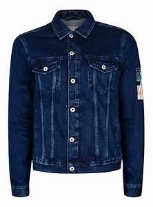 Blue Back Patch Denim Jacket - TOPMAN USA