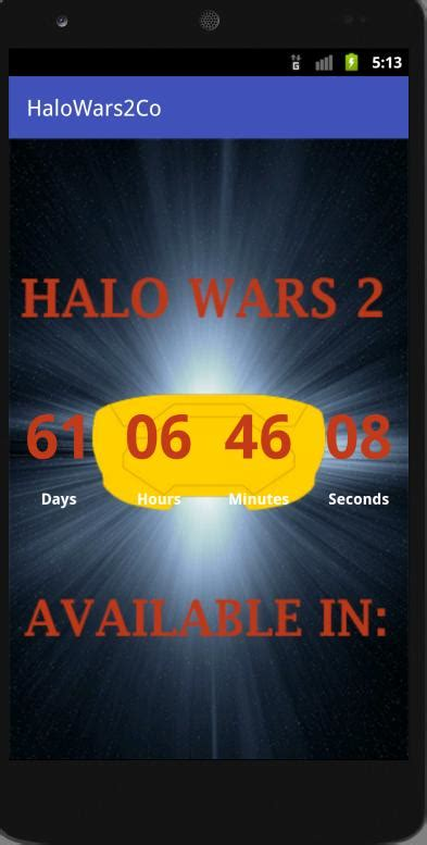 Countdown For Halo Wars 2 For Android Apk Download