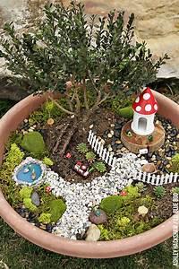 Fairy Garden Ideas - How to make a Bonsai Tree Fairy Garden