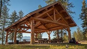 30x40 Meadowlark Log Pavilion