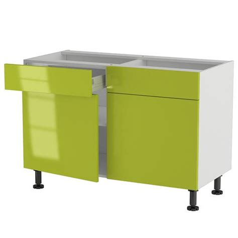 element bas de cuisine meuble cuisine bas 120cm 2 tiroirs portes 60 70 achat