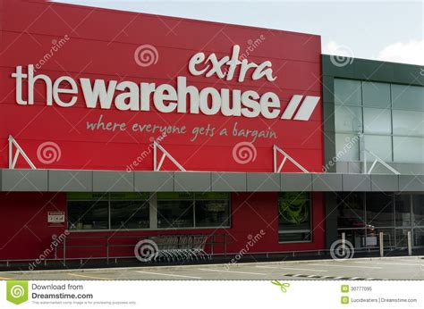 the warehouse nz discount store retailer editorial image