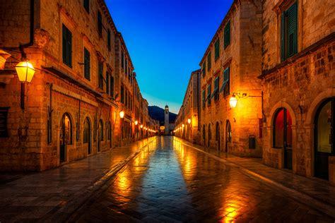 Dubrovnik At Night Dubrovnik Croatia Sumfinity