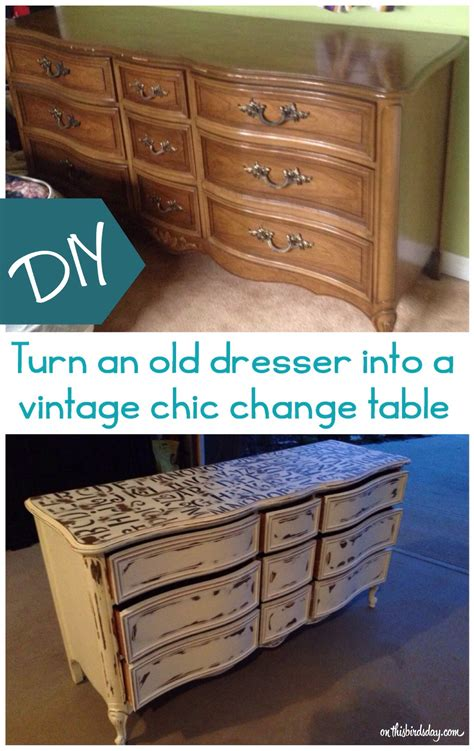 how to turn an dresser into a kitchen island turn an dresser into a vintage chic change table 9973