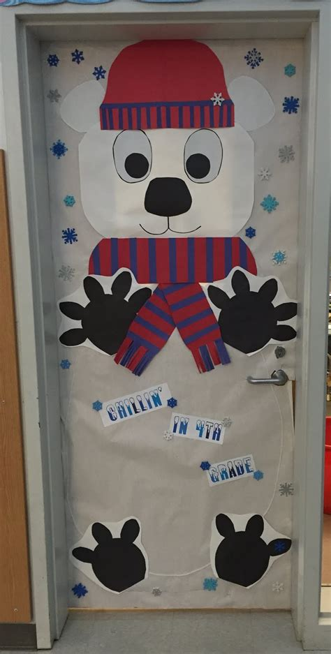 winter classroom door decorations creative elementary school counselor winter door decorations