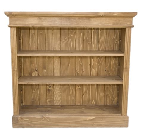 Wide Shelves by Solid Wood Interiors Gt Pine Bookcase Small Wide 2