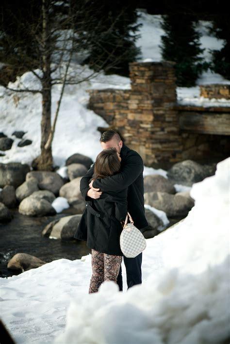 breckenridge proposal photography winter ski trip