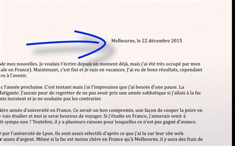 writing  informal letter personal writing french vce