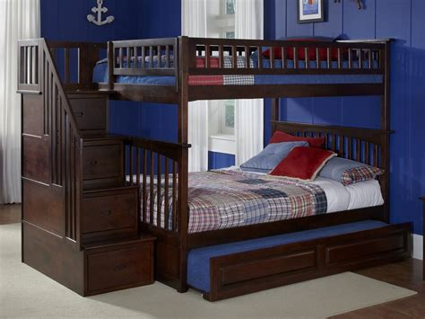 size bunk beds columbia staircase trundle bunk bed atlantic furniture 6418
