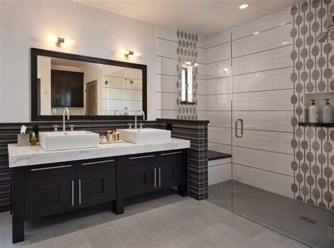 marvelous tile  shower bathroom transitional