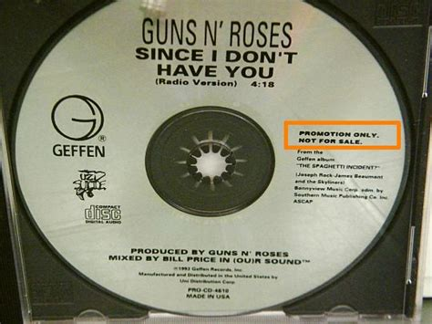 Since I Don't Have You, Rare Cd Promo