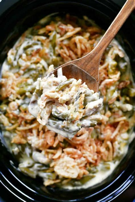 slow cooker green bean casserole  gunny sack
